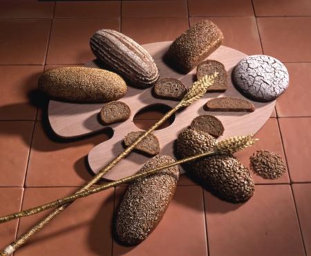 Variété de pains bruns (source : www.schweizerbrot.ch)